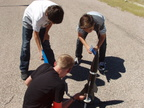 2014 Model Rocketry Aug getting ready to launch