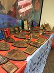 2015 NCS Awards Survival Banquet - A few Past Awards Table