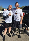 2015 El Tour de Tucson NCSs Bryan Kelsey with Rob Jones, fellow cycling team member for the Coalition to Salute Americas Heroes